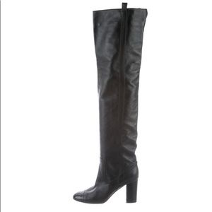 Chanel Cap-Toe -Over-The knee boot